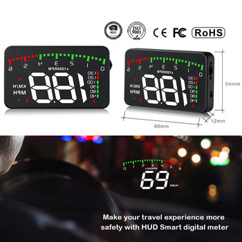 A100 3.5 A900 HUD Head-Up Display Car-styling Hud Display Overspeed Warning Windshield Projector Alarm System Universal Auto 1