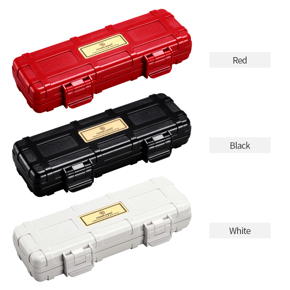 CIGARLOONG Portable Waterproof Travel Cigar Case Box 2 sticks cigar packets CL 082 in Cigar Accessories from Home Garden