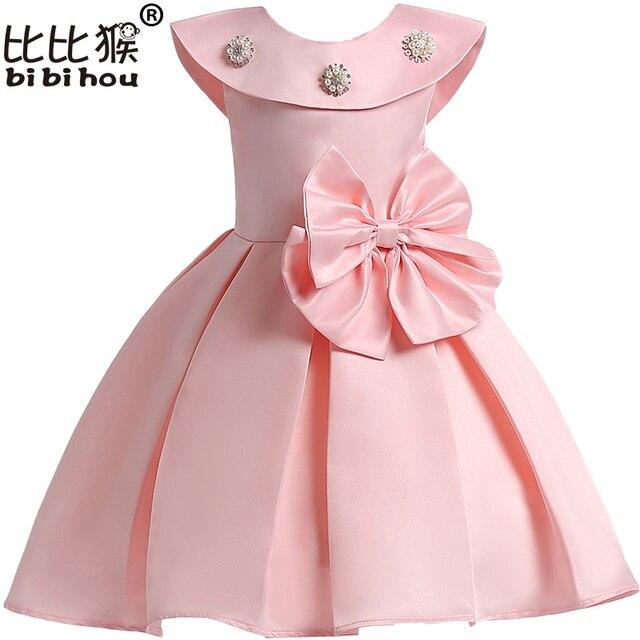 9d3c553b5fc528 2018 Prinses Meisjes Jurk Voor de Zomer Baby Jurken Kinderkleding Prinses  Jurk Kralen Party Carnaval Kostuum