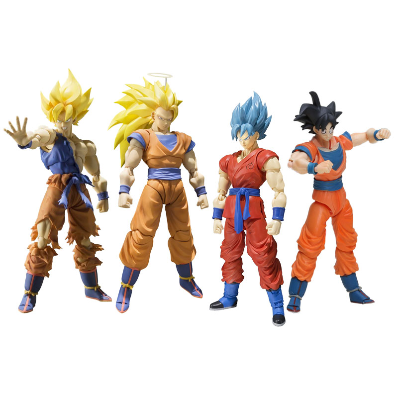 Dragon Ball Z Figure résurrection F Super Saiyan 3 dieu Super guerrier éveil fils Gohan Gokou Goku figurine d'action