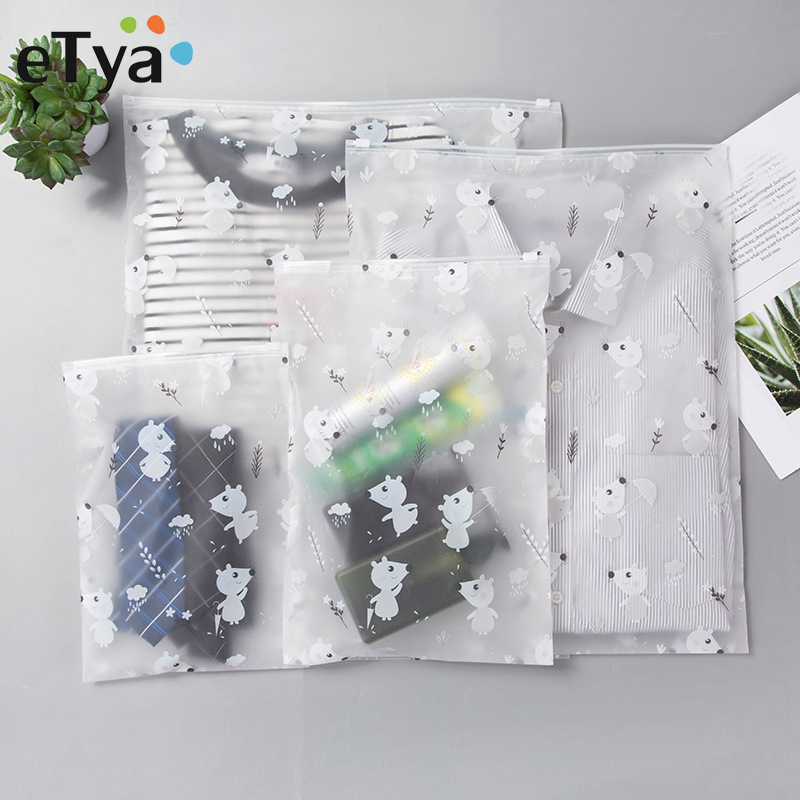 ETya Transparent Cosmetic Bag Travel Makeup Case Women Zipper Make Up Bath Organizer Storage Pouch Toiletry Wash Bags Beauty Kit
