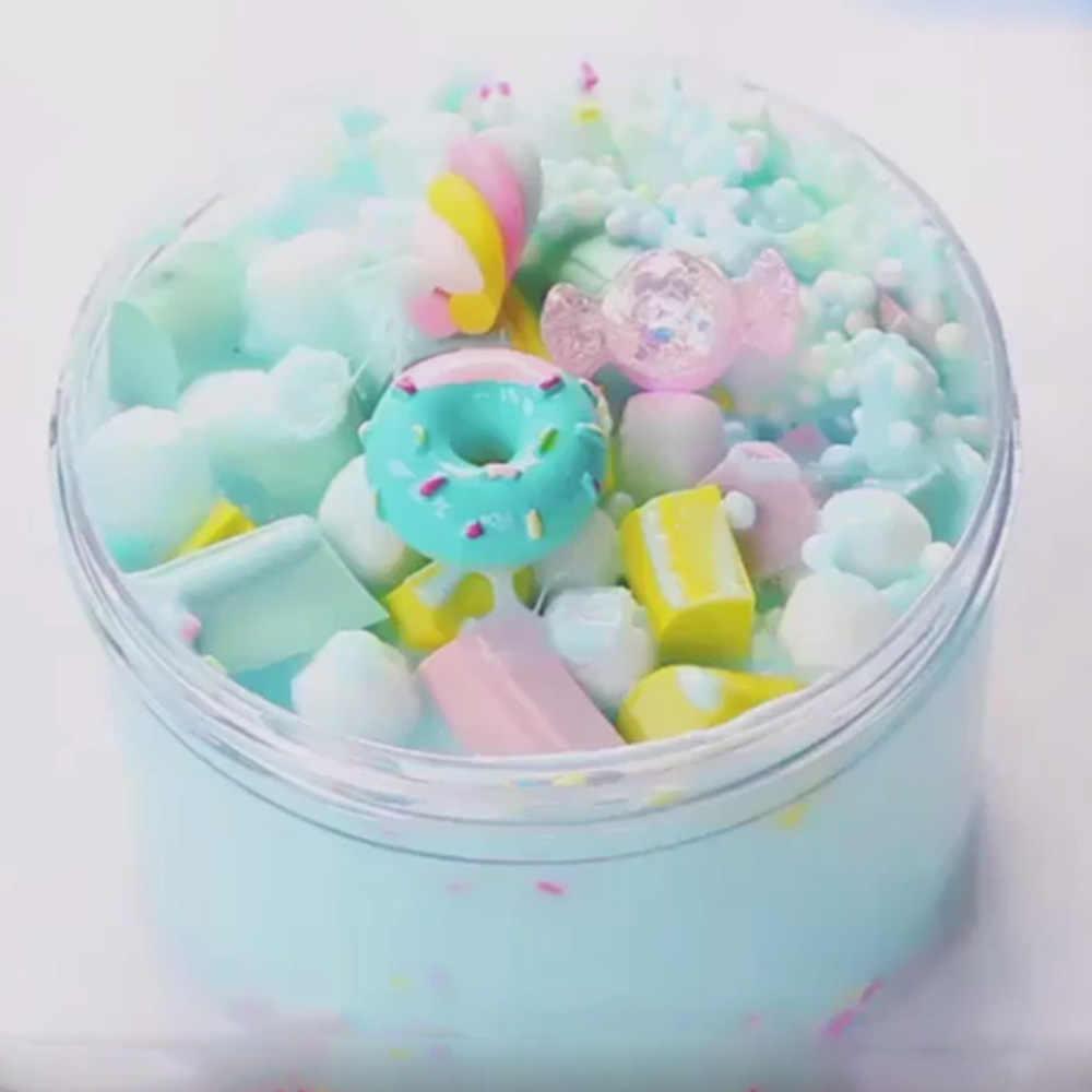 Suave arcilla polimérica mullido juguetes de limo suministros luz plastilina nube de limo caja accesorios DIY Slimes Kit antiestrés niños