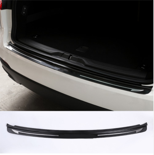 YIWANG Stainless Steel Outer Rear Bumper Scuff Plate Cover Trim for Maserati Levante 2016 Accessories Black