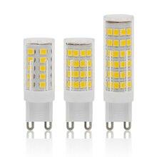 Лампада светодиодный G9 лампа светодиодный 220V 3W 4 Вт 5 Вт с украшением в виде кристаллов bombillas светодиодный потолочный светильник Потолочные светильники SMD 2835 заменить галогенные лампы 30 Вт, 40 Вт, 50 Вт, ручная сборка для люстры