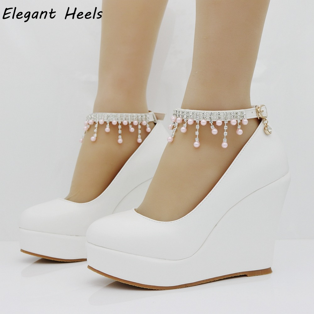 f9a51457edb White Wedge Heel Shoes Boots And Heels 2017
