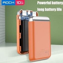 Rock 3a 10000mah Led Power Bank podwójna przenośna ładowarka Usb Powerbank dla Iphone Xiaomi Mi telefon zewnętrzny akumulator Poverbank