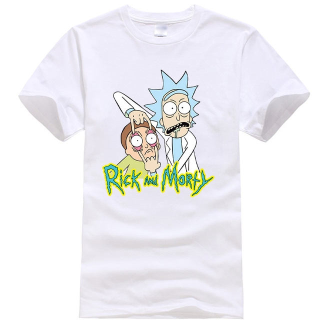 Men's high quality T-shirt 100%  cotton rick and morty printed 2