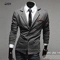 Qxy мужская мода костюмы тонкий свободного покроя вязания пиджака для мужчин лацкане гражданская одежда бренды дизайнер одежды X303
