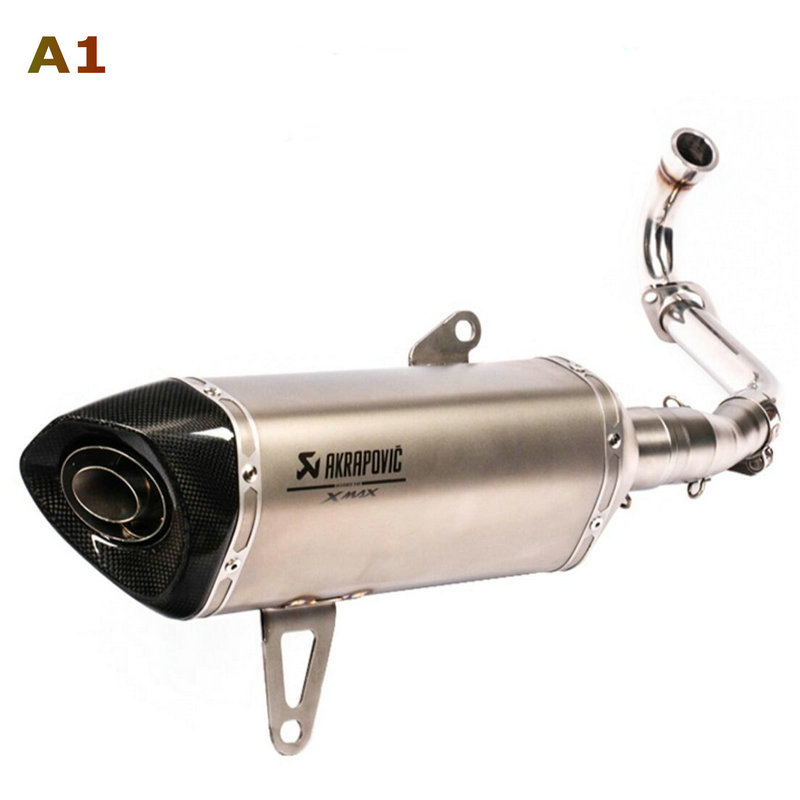 Image 2 - Akrapovic exhaust motorcycle Xmax 250 Modified Exhaust Muffler Xmax 300 Slip On For YAMAHA Xmax Series Scooters 2017 2019-in Exhaust & Exhaust Systems from Automobiles & Motorcycles