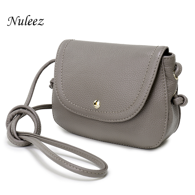 d45c1ddbada Nuleez Genuine Leather Saddle Bag Real Leather Women Small Bag Summer Sling  Bag For Girls Crossbody Messenger Bags Female 2031