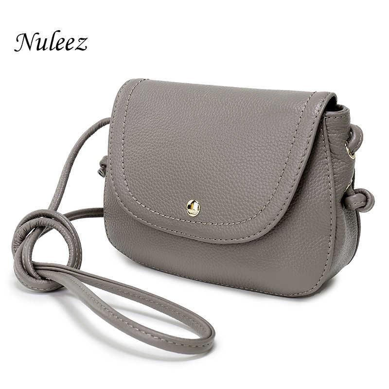 c43b317c98 Nuleez Genuine Leather Saddle Bag Real Leather Women Small Bag Summer Sling  Bag For Girls Crossbody