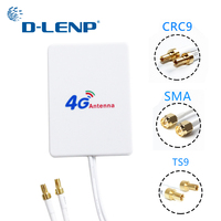 Dlenp 3M cable 3G 4G LTE Antenna External Antennas for Huawei ZTE 4G LTE Router Modem Aerial with TS9/ CRC9/ SMA Connector