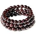 Janeiro Birthstone Natural Garnet Bead Bracelet Handmade Pulseras Claret-vermelho Estiramento Cabo de Jóias por atacado