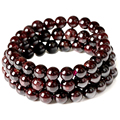 January Birthstone Natural Garnet Bead Bracelet Claret-red Handmade Pulseras Stretch Cord  Jewelry wholesale