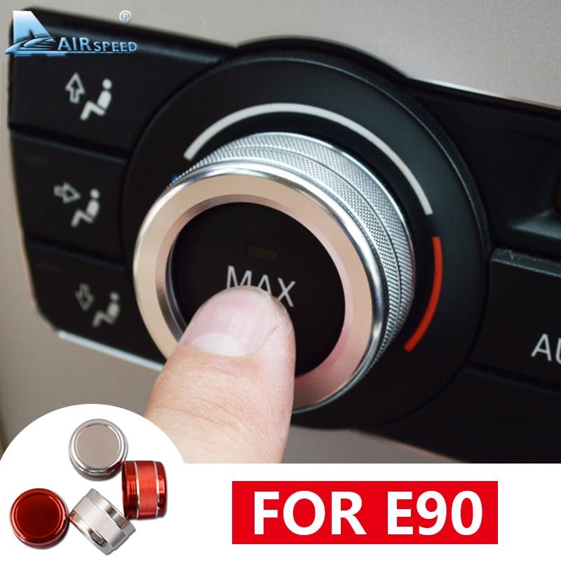 Airspeed Aluminium Alloy For BMW E90 Accessories 2005-2012 For BMW E90 Interior Trim Car Air Conditioning AC Volume Knob Cover