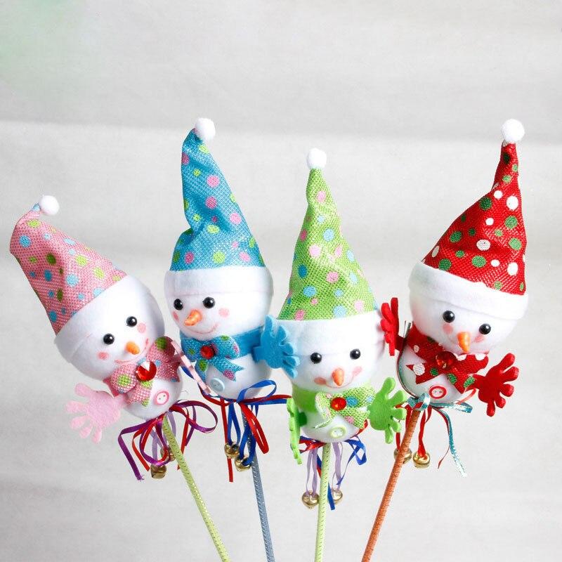 1 UNID Lindo Decoraciones De Navidad Muñeco de Nieve de la Navidad Adornos de Mu