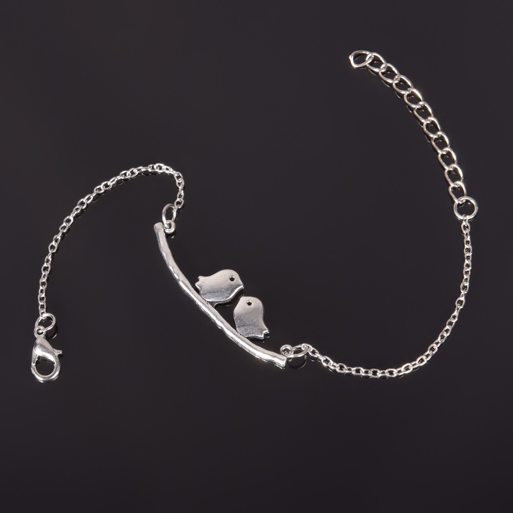 Simple Style Silver Plated Charm Bracelet Jewelry Gift Wedding Banquet Wholesale Top Quality 1 D2 19