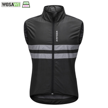WOSAWE Reflective Waistcoat Men Cycling Vest Sleeveless MTB Road Racing Jersey Female Motorcycles Safety Visibility Vest
