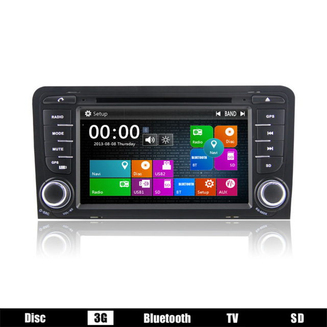 Wholesales Super deal 7 inch Car DVD Player GPS Navigation For Audi A3 S3 2003 2004