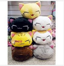 2014 New 7 cute sleeping cat Cotton plush pillow toys for children Babe boy .Free shipping