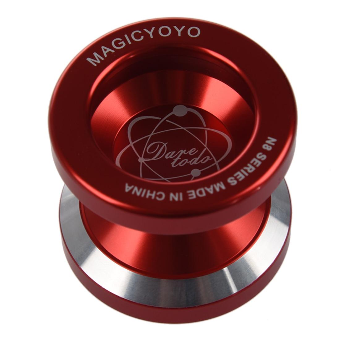 New Magic Yo-Yo N8 Super Professional YoYo + String + Free Bag +Free Glove (Red)