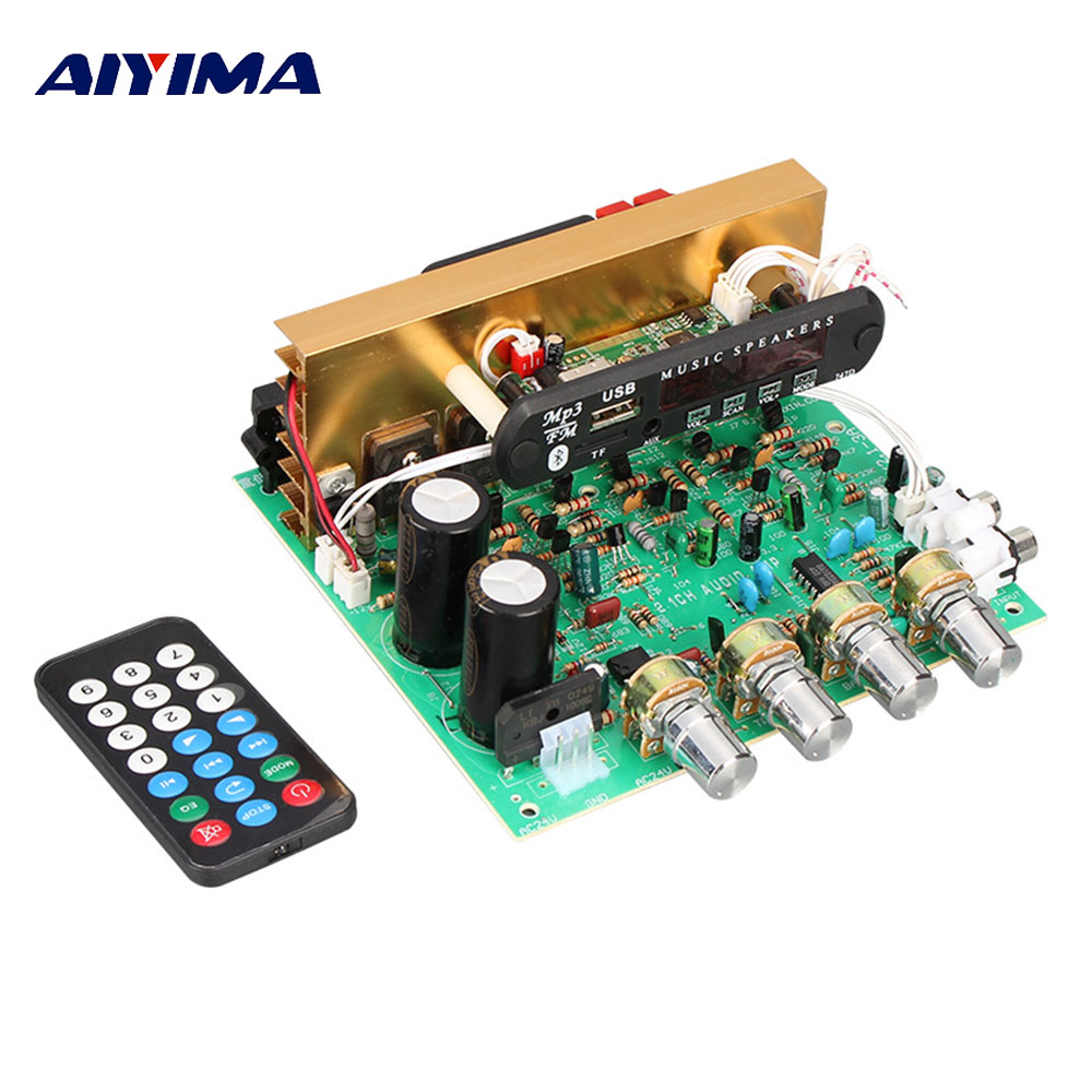 AIYIMA <font><b>2.1</b></font> <font><b>Bluetooth</b></font> Power <font><b>Amplifiers</b></font> Professional Board 80W Subwoofer Multi Function Amplificador Audio DIY For Home Theater image