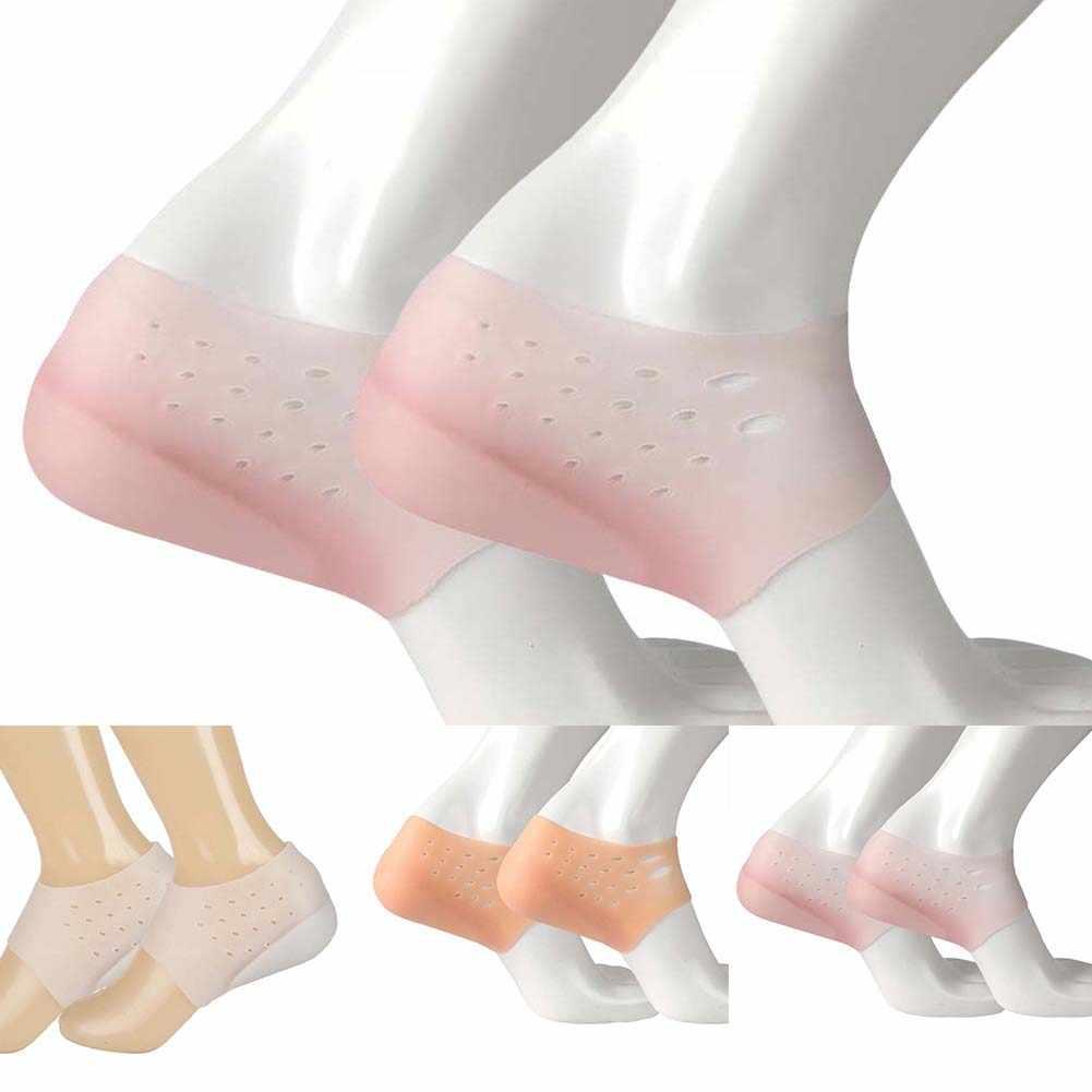 Unisex ความสูงที่มองไม่เห็นเพิ่มถุงเท้า Heel Pads ซิลิโคน Insoles นวดเท้า