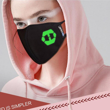 Moledodo 1PC Black Mouth Mask Warm and Dustproof in Winter Breathable Windproof Couple Luminous