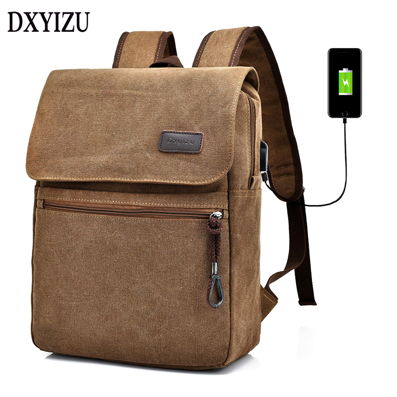 2018 vintage Men Canvas College Student School Backpack Male travel Bags Casual Rucksacks Laptop large capacity Mochila men s casual bags vintage canvas school backpack male designer military shoulder travel bag large capacity laptop backpack h002