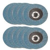 DWZ 10pcs New 115mm 4 1 2 7 8 Premium Zirconia Grinding Wheel Flap Disc 40