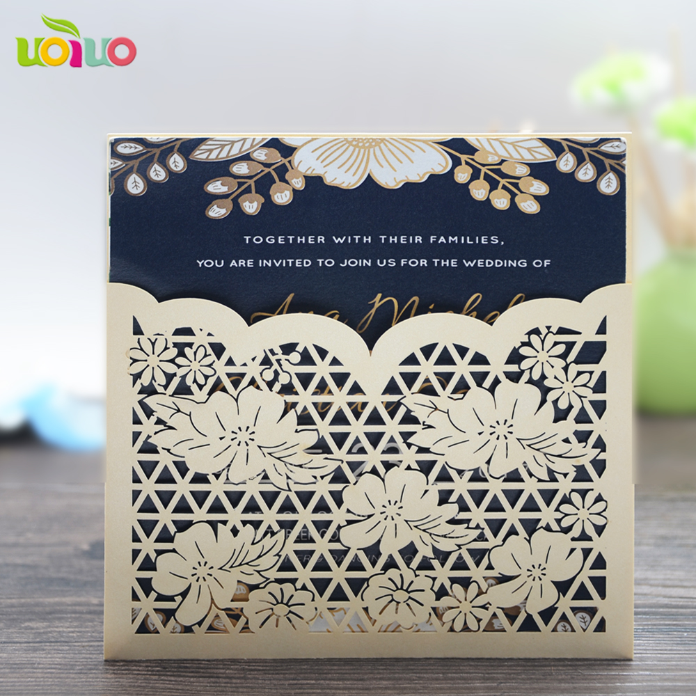 Best Wedding Invitations Cards: Best Price New Design Beautiful Flower Pearl Paper Laser