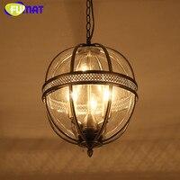 Скандинавский американский кантри подвесной светильник дизайнеры подвесной светильник светодиодный Железный стеклянный шар лампа с абаж