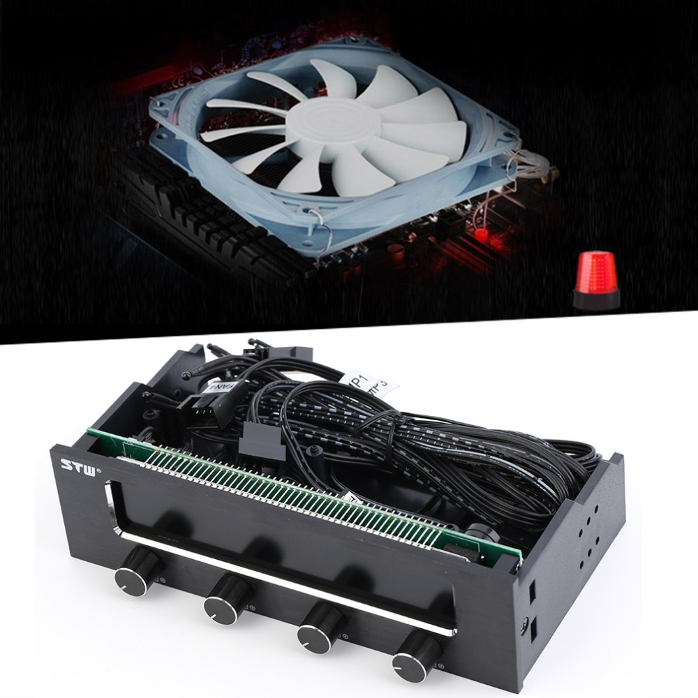 STW High Quality 5 25 LCD Panel Fan Speed Temperature Controller Governor PC Hardware Protector Hot