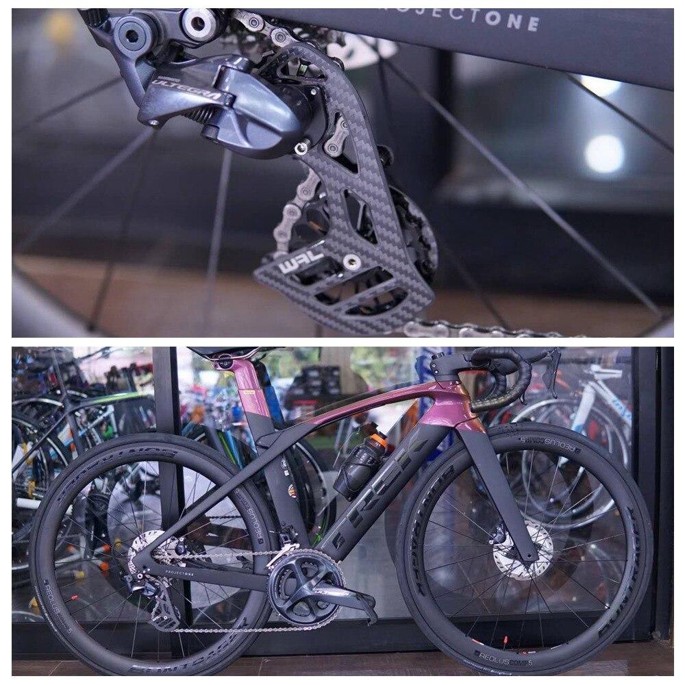 17 T céramique en Fiber de carbone vélo roulement cyclisme poulie jeu de roues arrière dérailleurs Guide roue pour SHIMANO DURA ACE/Ultegra