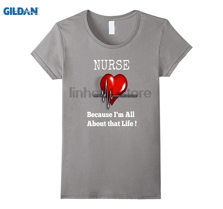 GILDAN Nurse All About That Life Heart Beat T-Shirt dress T-shirt