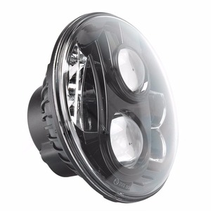 "Image 3 - جهاز عرض (بروجكتور) ليد العلوي ، نقطة دراجة نارية 7 بوصة مصابيح LED مستديرة المصابيح الأمامية DRL ، 7 ""80W DRL LED موتو المصباح ل داينا شارع الإنزلاق"