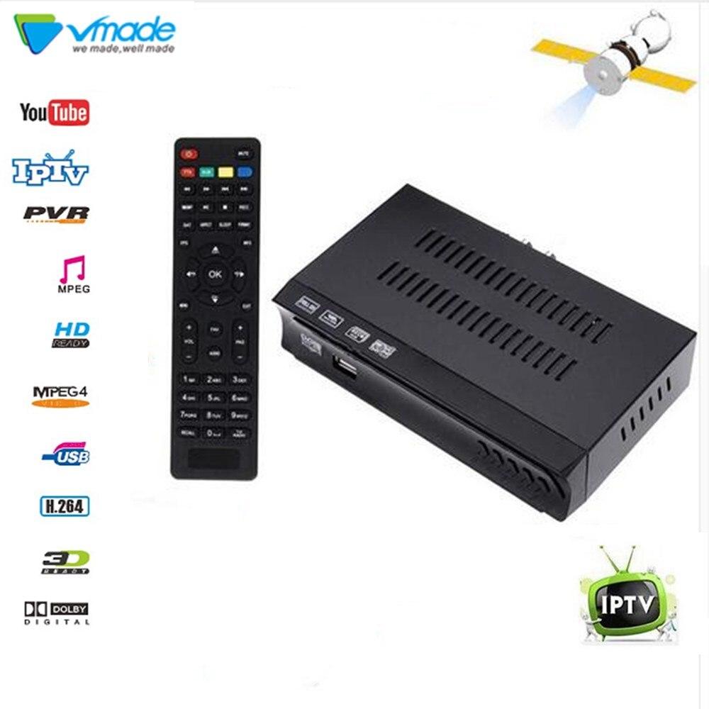 Vmade Ricevitore TV Satellitare decoder HD DVB-S2 MPEG4 H.264 Standard di Set top box di Supporto OTA HTTP/FTP aggiornamento Recettore