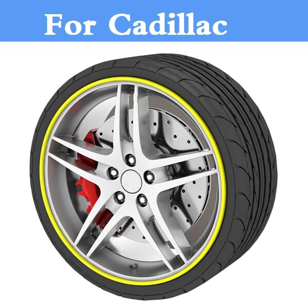 Car Wheel Hub Protector Stickers Beauty decoration strip For Cadillac ATS ATS-V BLS CT6 CTS-V De Ville DTS ELR SRX STS XLR XTS