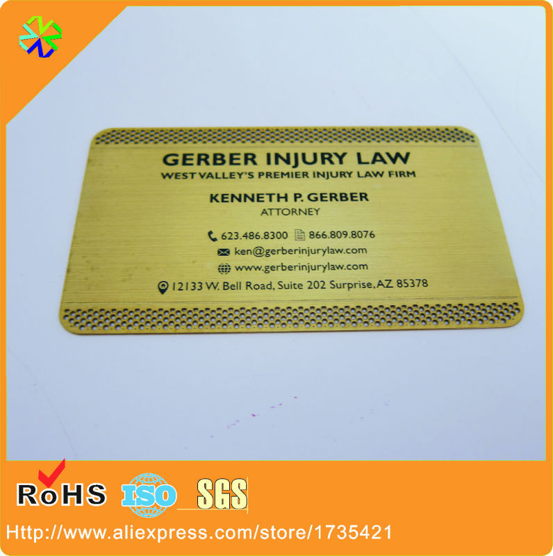 100pcslotsmall holes cut out black words etched gold metal 100pcslotsmall holes cut out black words etched gold metal business card in business cards from office school supplies on aliexpress alibaba reheart Images