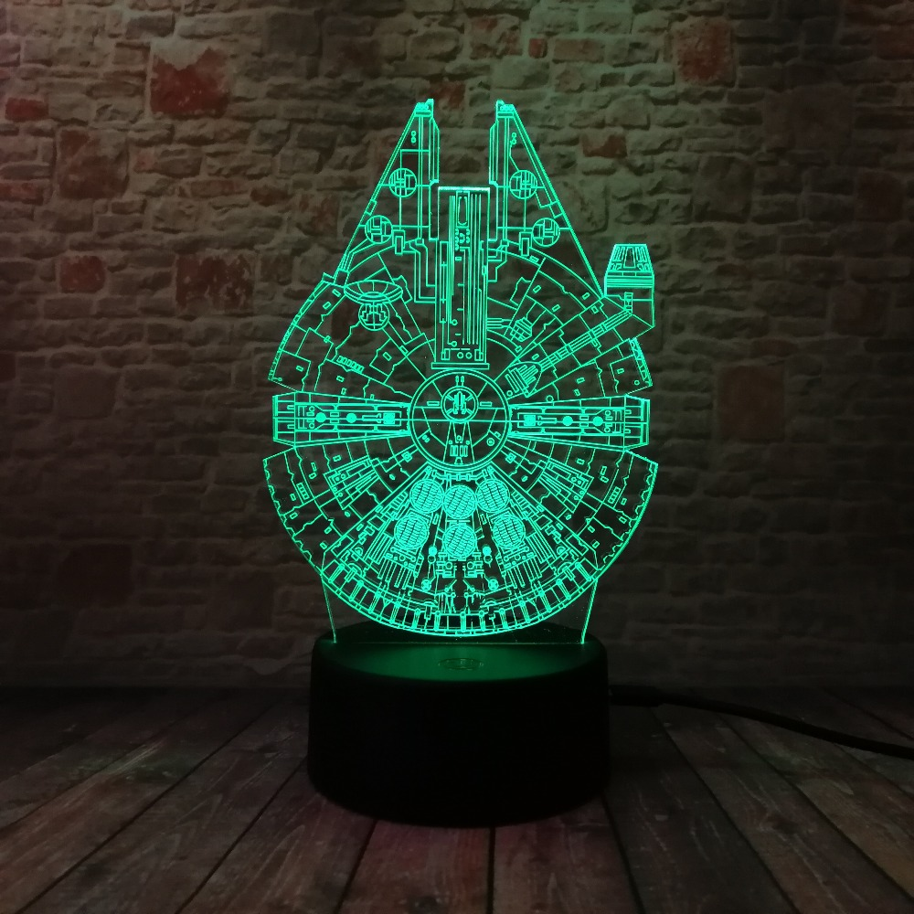 Star Wars Legends Novedad Nave espacial 3D Night Light Smart 7 Color - Luces nocturnas - foto 3