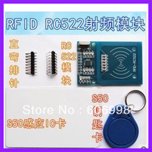 10pcs/lot RFID RC522 module Kits S50 13.56 Mhz 424kbit/s  Write & Read for arduino uno 2560  Free Shipping
