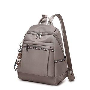 Image 3 - Yüksek Kaliteli Naylon Kadın Fermuar okul çantası Genç için Sırt Çantası Kızlar Yumuşak Saplı Taşınabilir Schoolbag Öğrenci Anti theft Sırt Çantası