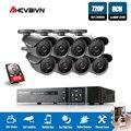 AHCVBIV 8CH DVR 720 p HDMI CCTV Sistema Video Recorder 8 pz 1200TVL Casa di Sicurezza Impermeabile Macchina Fotografica di Visione Notturna di Sorveglianza kit