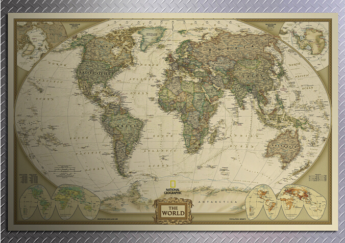 104*69cm Large retro World Map Kraft Paper Paint vintage Poster Living Room Art Crafts Maps bar cafe Pub wallpaper
