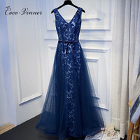 C V 2017 NEW Fashion Long Banquet Evening Dress Quality Lace Plus Size Slim Annual Meeting