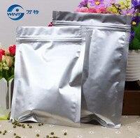 11 cm * 16 cm 100 pcs  seal resealable sacos de folha de alumínio  saco da folha de alumínio zip lock Selo fundo plano  ziplock sacos de comida sacos de chá café