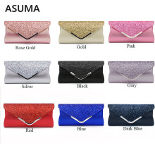 Women Evening Bag 2019 Party Banquet Glitter Bag For Women Girls Wedding Satin Clutches Handbag Chain Shoulder Bag Bolsas Mujer women evening bag gold chain stone high quality day clutches wedding purse party banquet girls messenger bag fashion multicolor