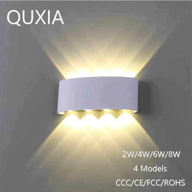 premium selection 58888 2c15f Nordic Wall Lamp Led Aluminum Outdoor Indoor Ip65 Up Down White Black  Modern For Home Stairs Bedroom Bedside Bathroom Light