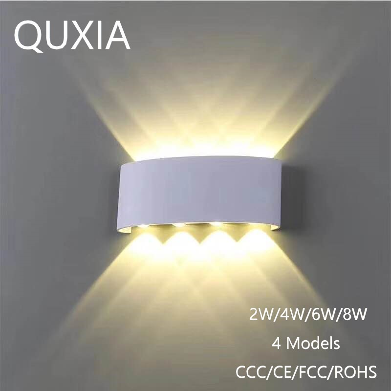 Nordic Wall Lamp Led Aluminum Outdoor Indoor Ip65 Up Down White Black Modern For Home Stairs Bedroom Bedside Bathroom Light
