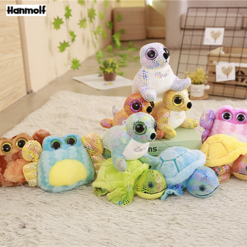 Dolls & Stuffed Toys Stuffed & Plush Animals Paillette Plush Aquatic Animals Stuffed Toy Crab/sea Turtle/seal Kawaii Twinkle Big Eyes Animals Plush Toy Kids Bag Pendant And Digestion Helping